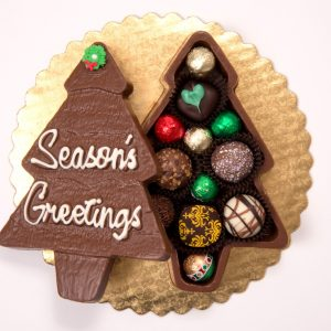 Chocolate Christmas Tree Truffle Box