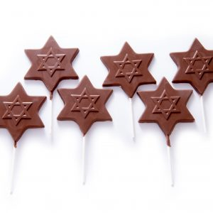 Chocolate Star of David Lollipop