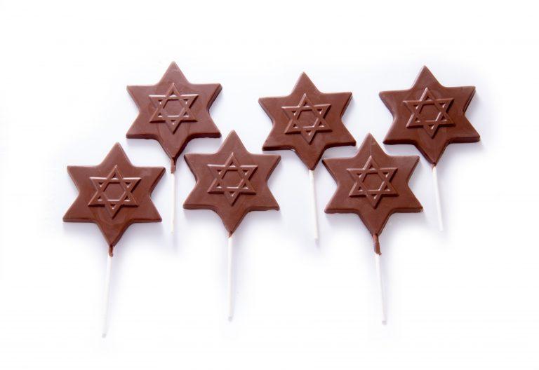 Chocolate Star of David Lollipop