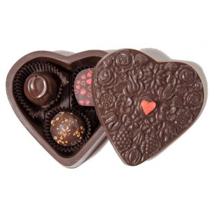 Edible Chocolate Heart Box with Truffles Small