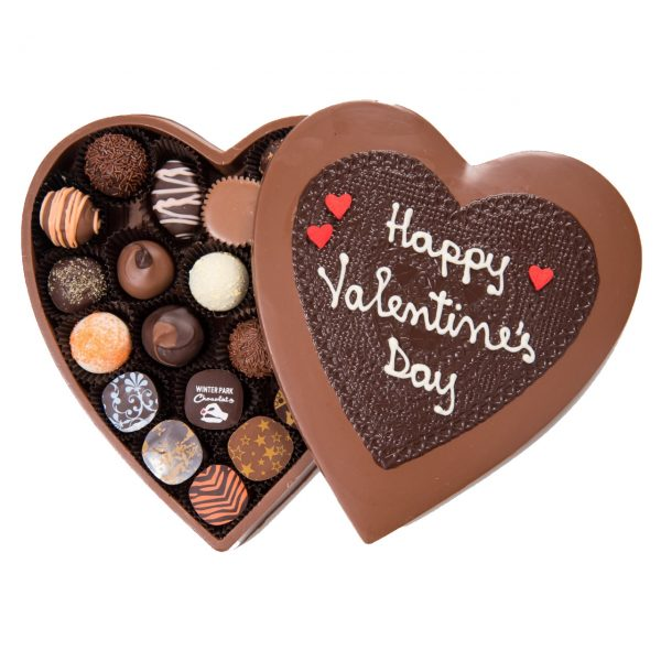 Edible Chocolate Heart Box with Truffles X-Large