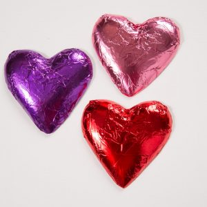 Foil Wraps Chocolate Hearts