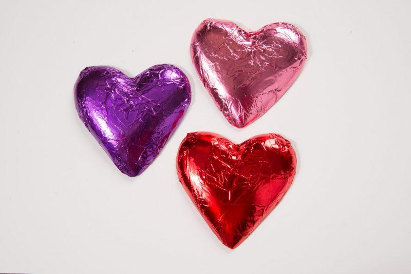 Foil Wraps Chocolate Hearts