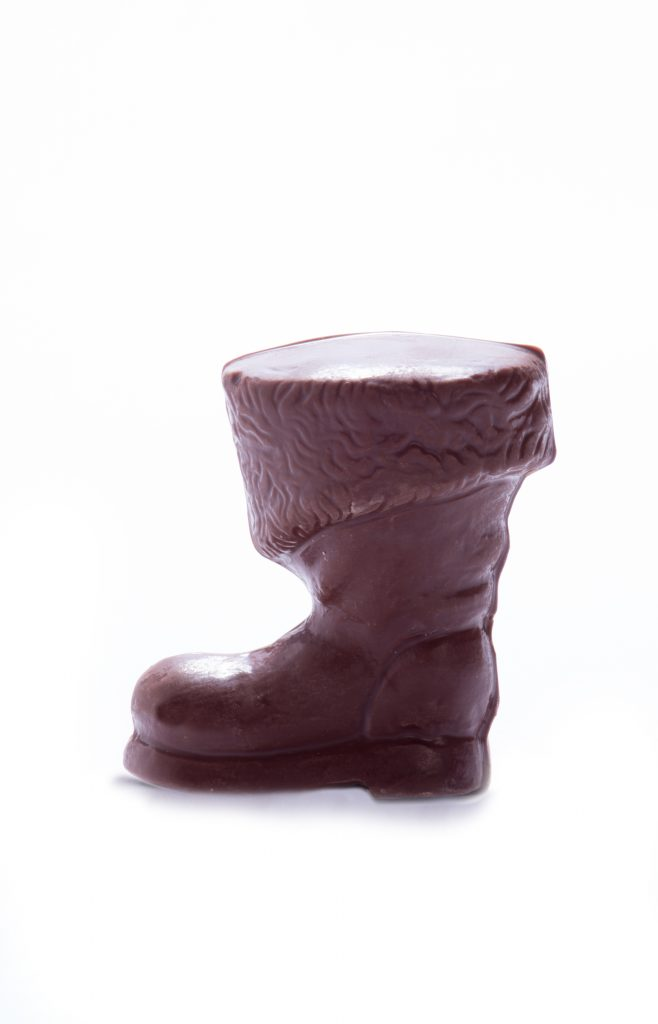 Solid Chocolate Santa Boot