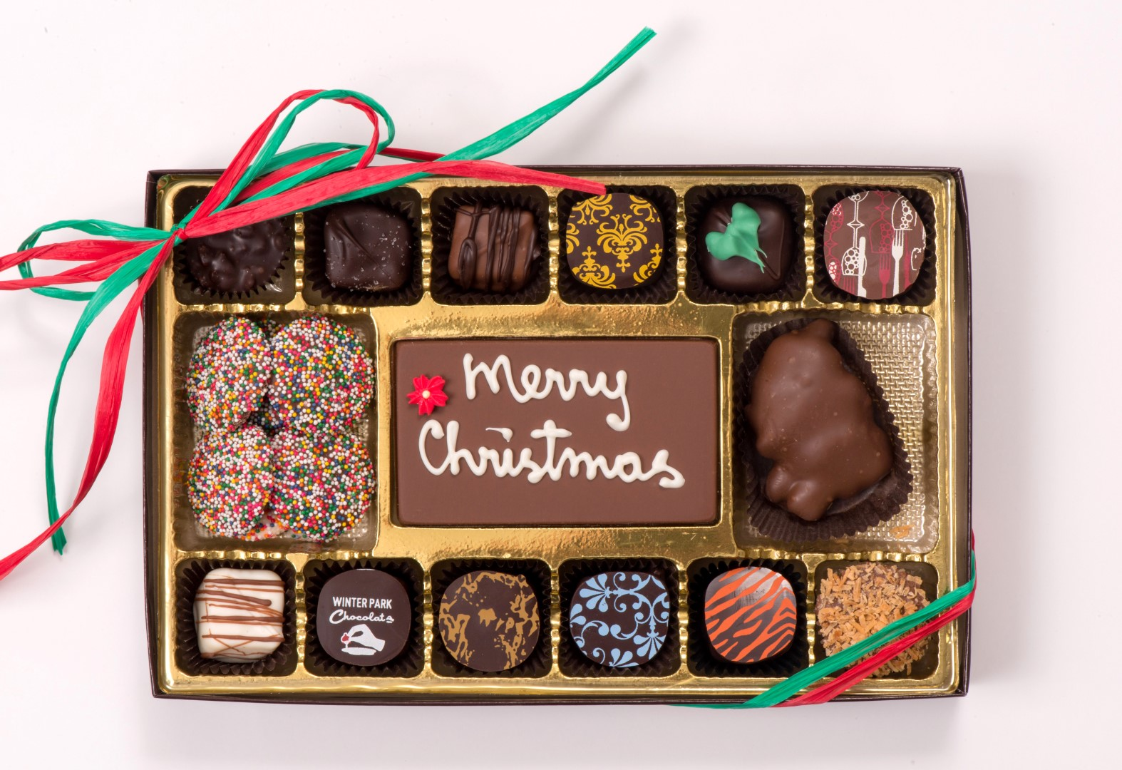 Chocolate Holiday Message Box (Large)