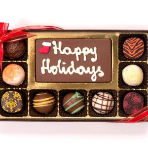 Chocolate Holiday Message Box (Medium)