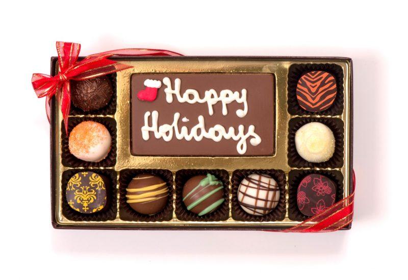 Chocolate Holiday Message Box (Medium)