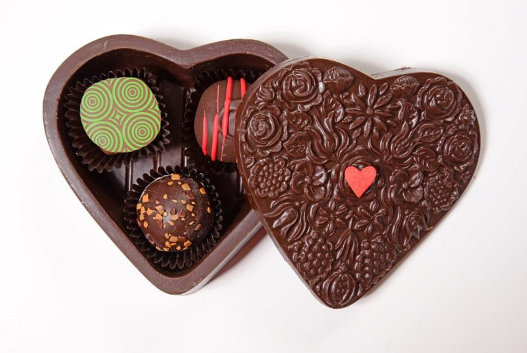 Chocolate Heart Box Small