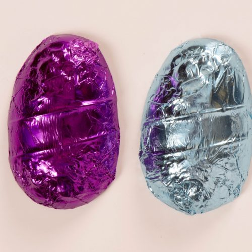 Foil Wrapped Solid Chocolate Easter Egg