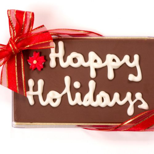 Holiday Personalized Chocolate Bar