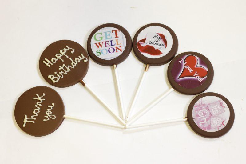 Personalized Chocolate Lollipop