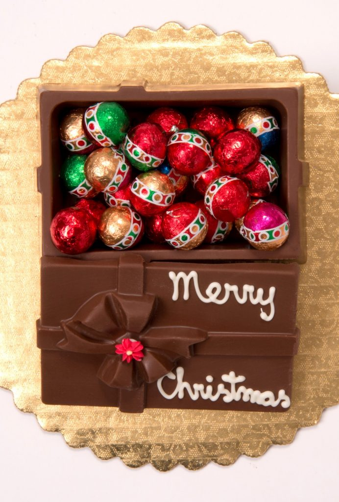 Chocolate Box with Ornaments