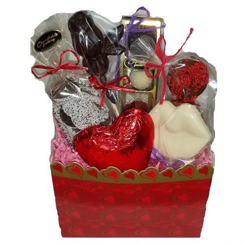 Valentine Gift Basket Chocolate Assortment