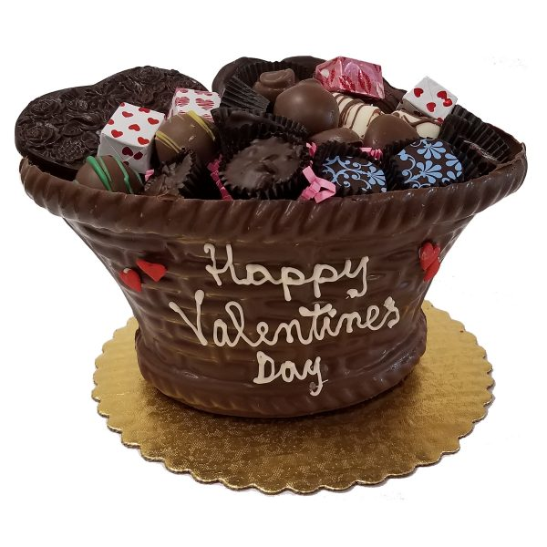 Edible Valentine Chocolate Gift Basket