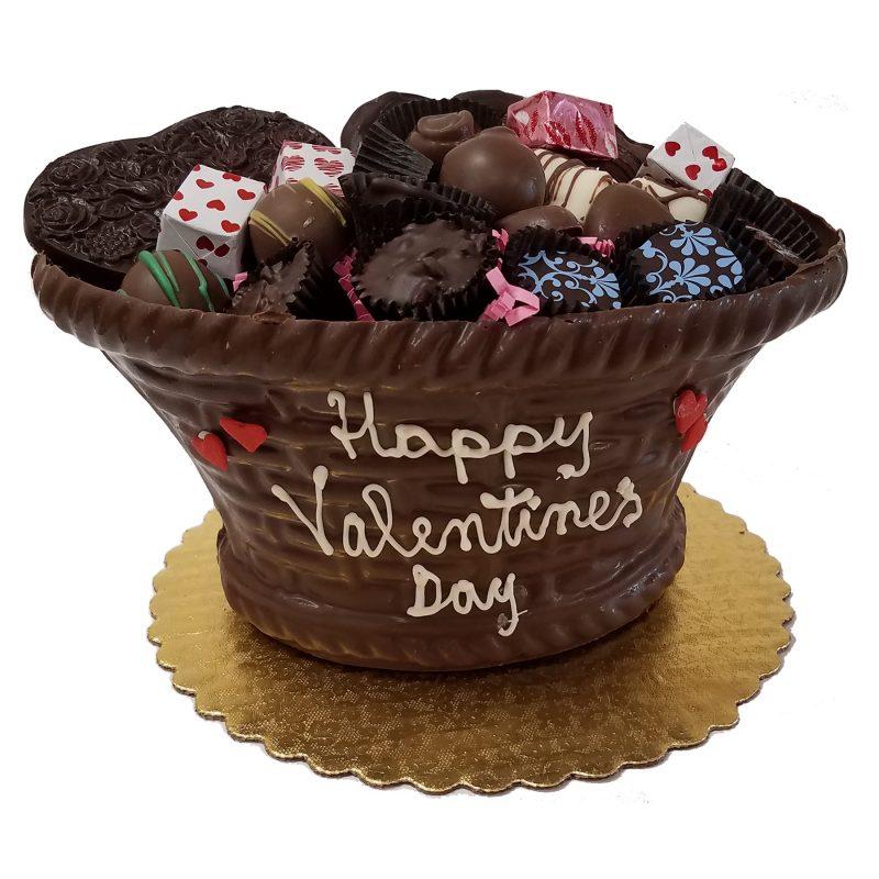 Edible Valentine Chocolate Gift Basket