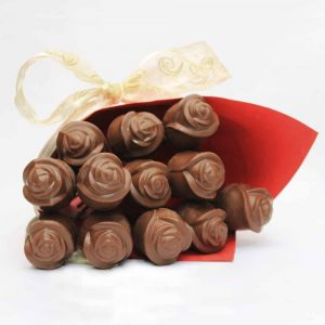 valentine solid chocolate 3d rose