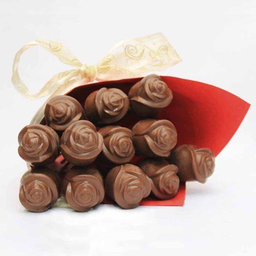 valentine solid chocolate 3d rose
