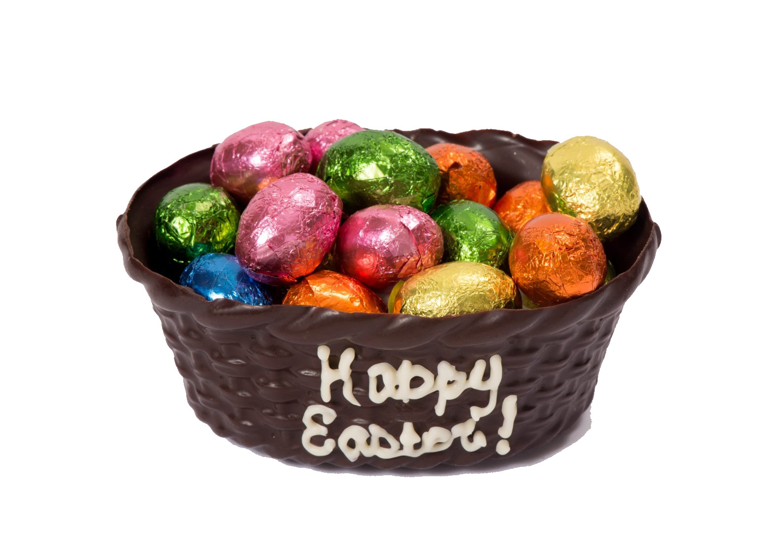 Chocolate Easter Basket Filled Chocolate Eggs